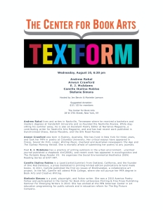 The Center for Book Arts: Text Form